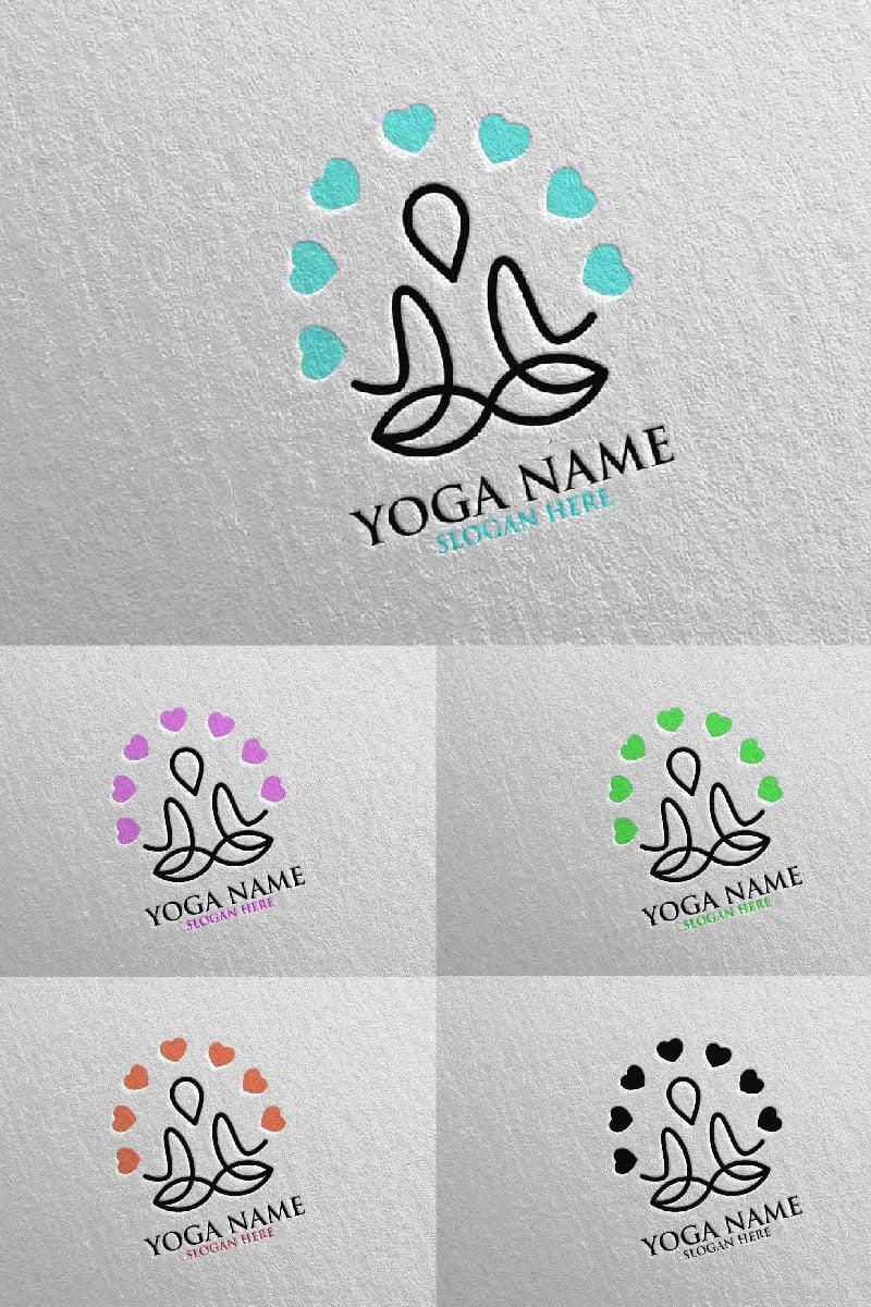 Szablon Logo Yoga and Lotus 48 #94308