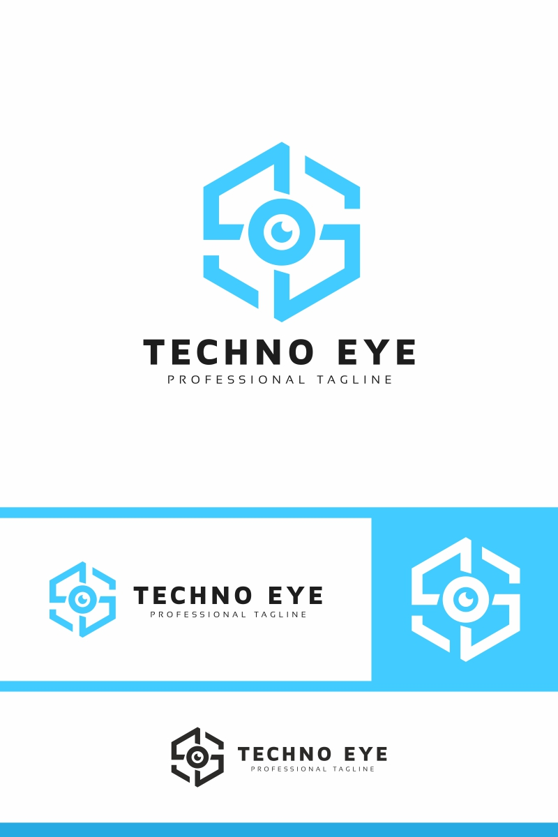 Techno Eye Template de Logotipo №94307