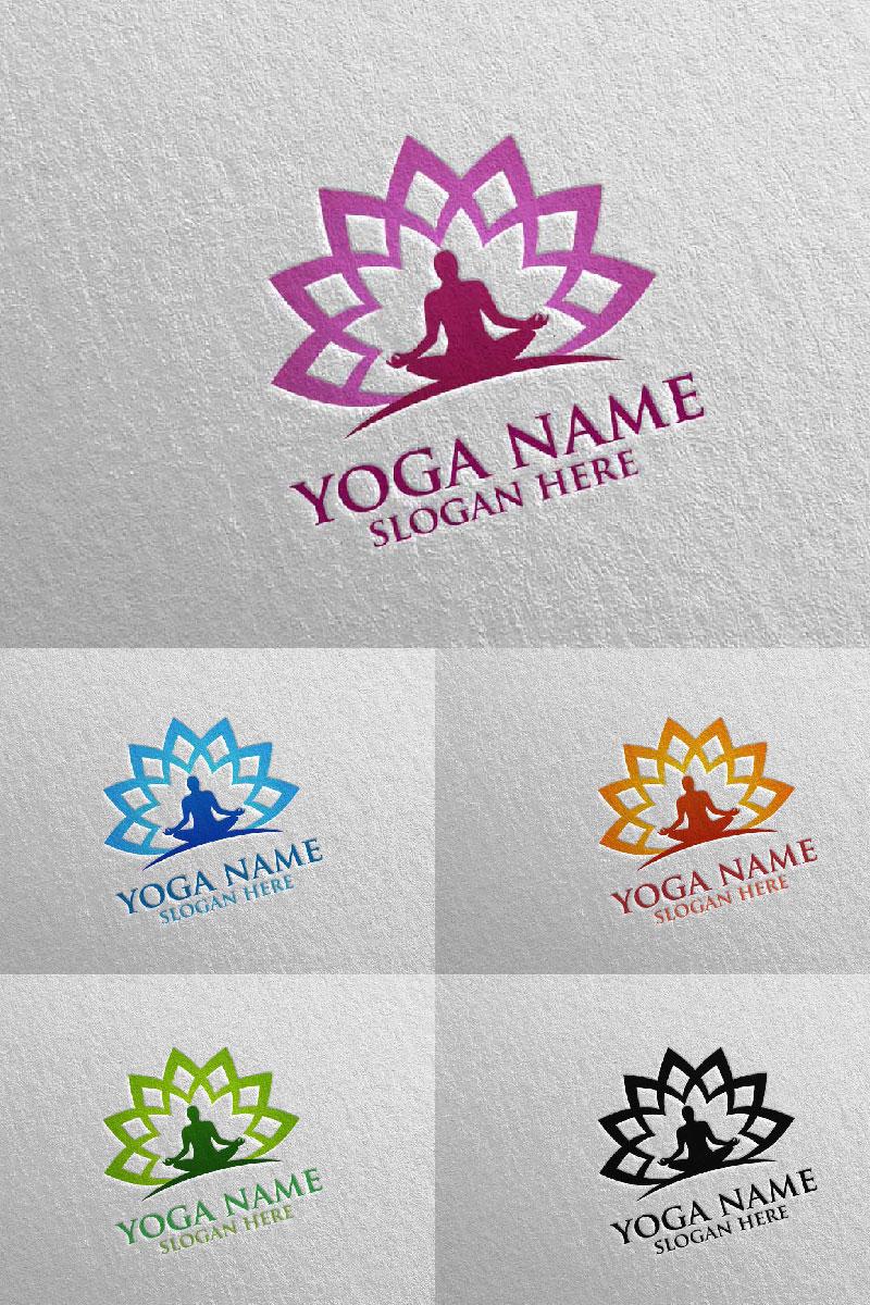 """Template di Loghi #94309 """"Yoga and Lotus 47"""""""