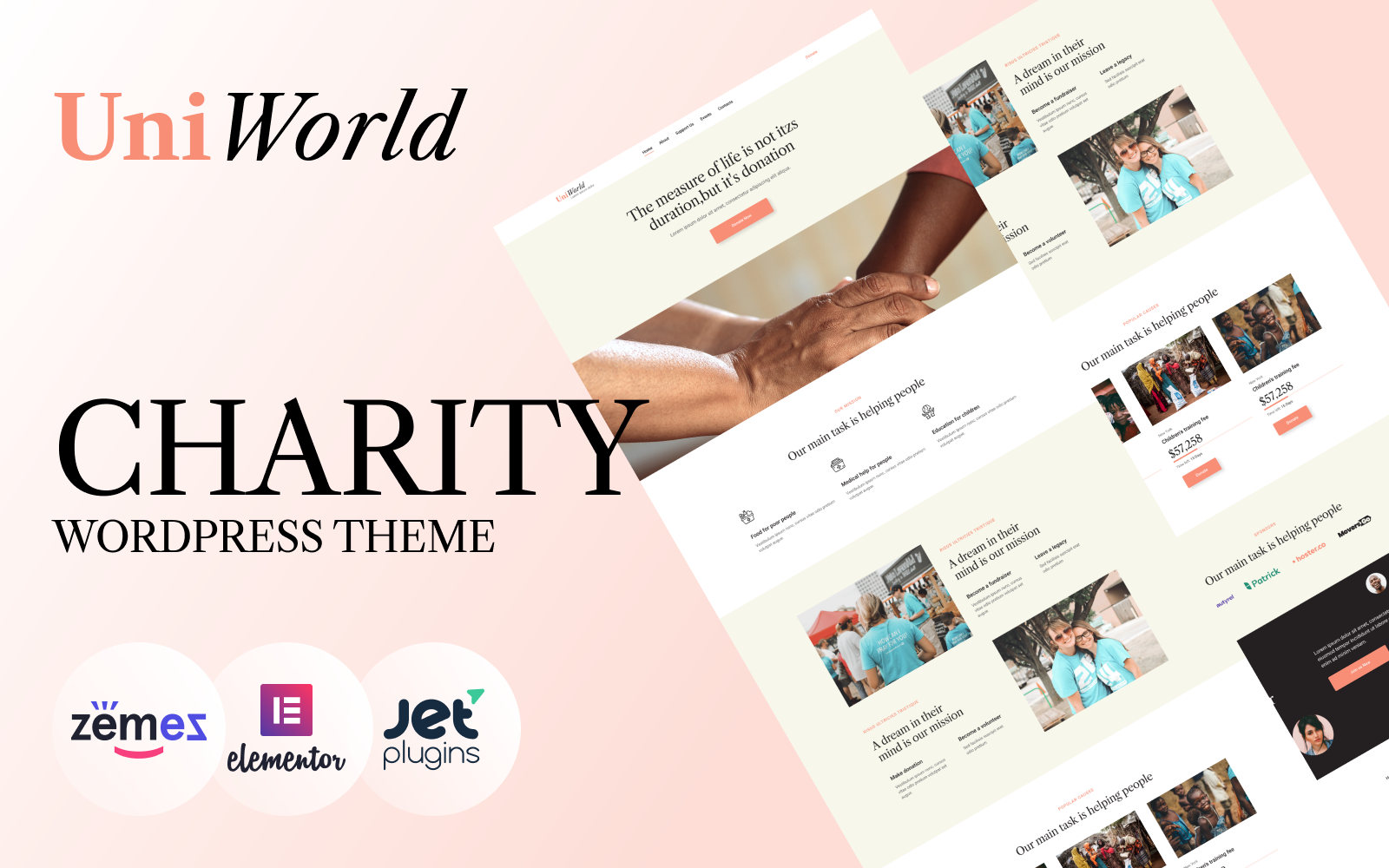 """UniWorld - Donations Charity"" thème WordPress adaptatif #94384"