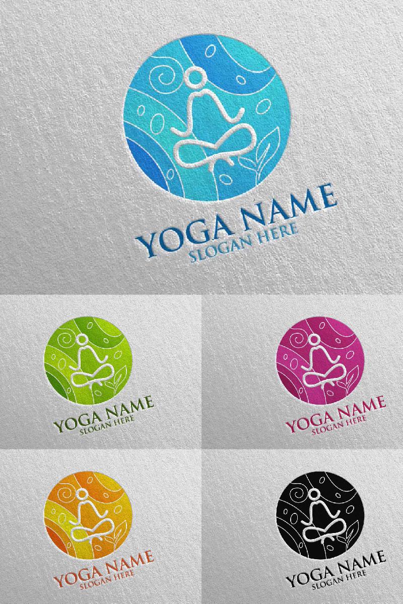 Yoga 40 Unika logotyp mall #94316