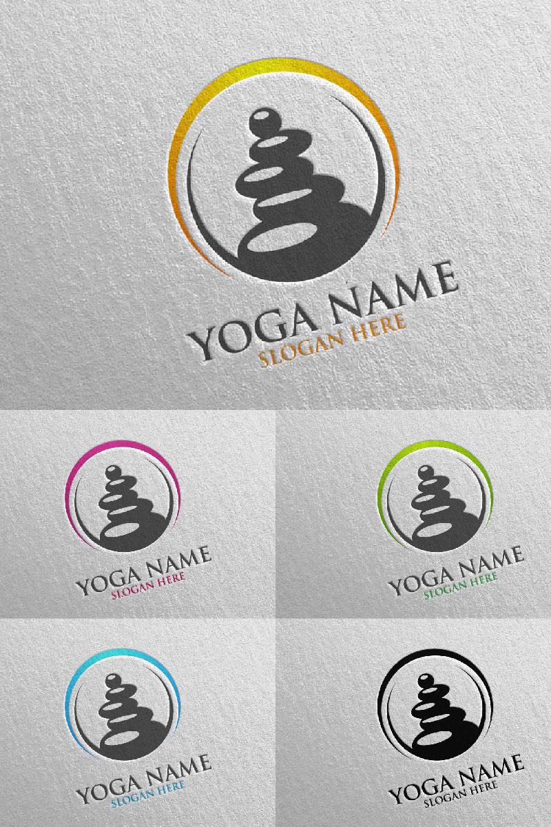Yoga 41 Unika logotyp mall #94315