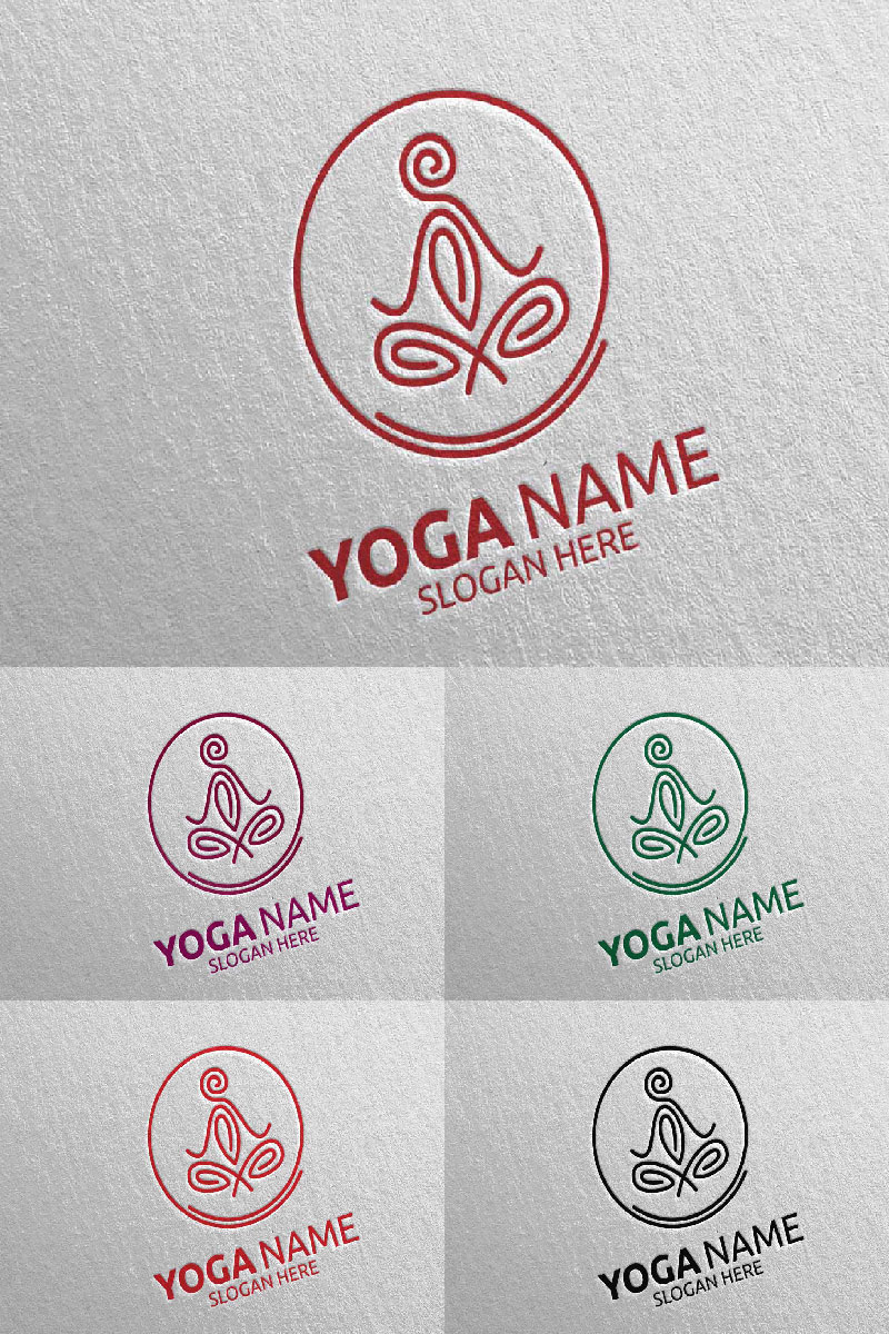 Yoga 43 Template de Logotipo №94313