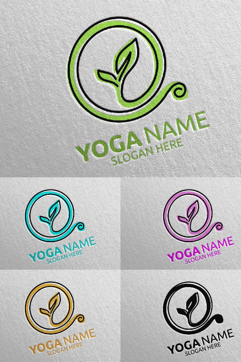 Yoga 44 Template de Logotipo №94312