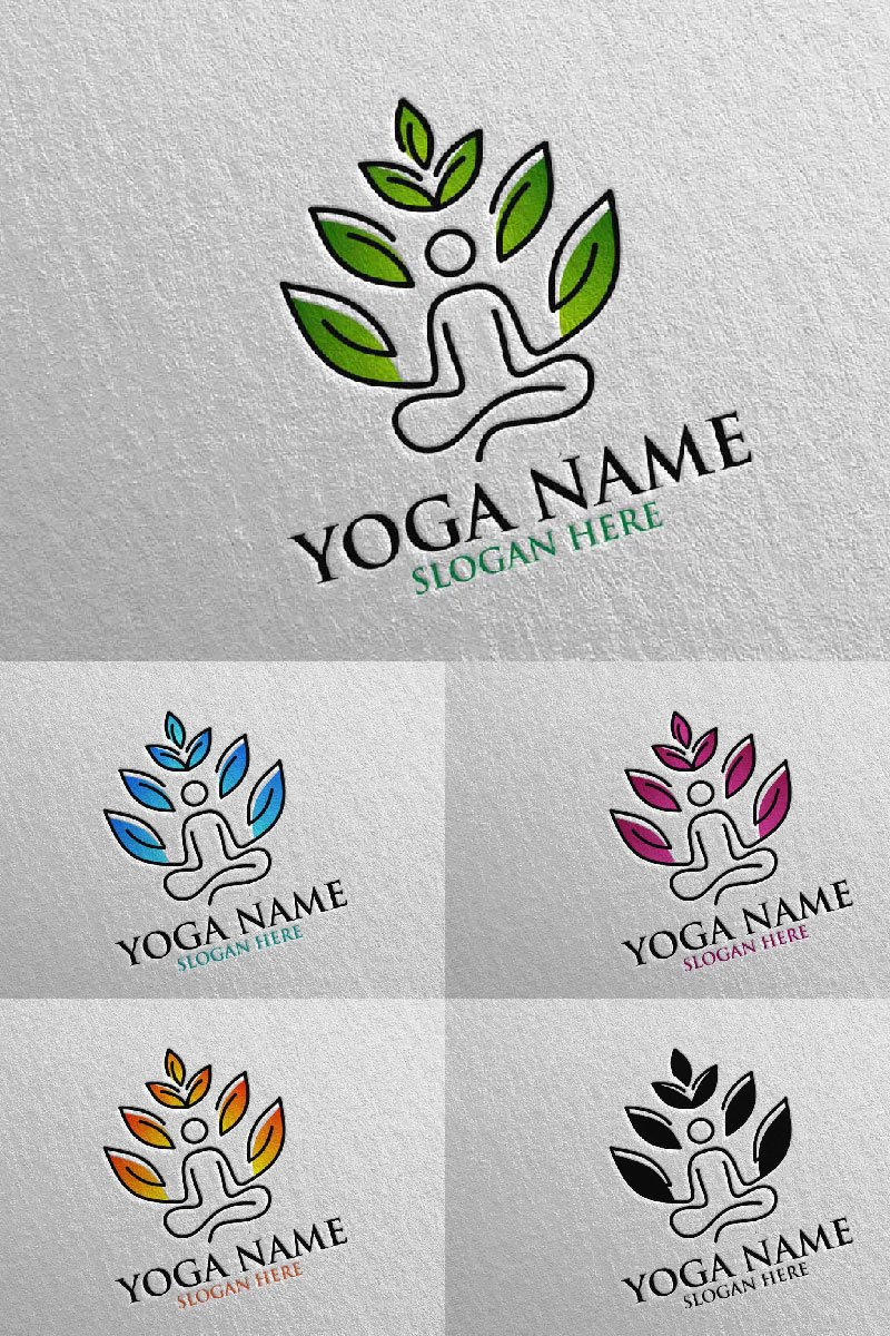 Yoga 45 Template de Logotipo №94311