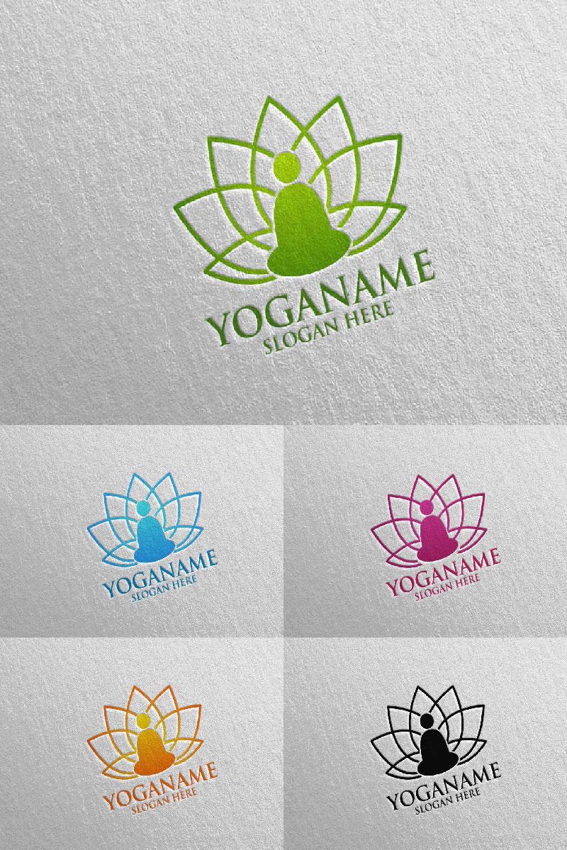 """""""Yoga and Lotus 51"""" Logo template №94303"""
