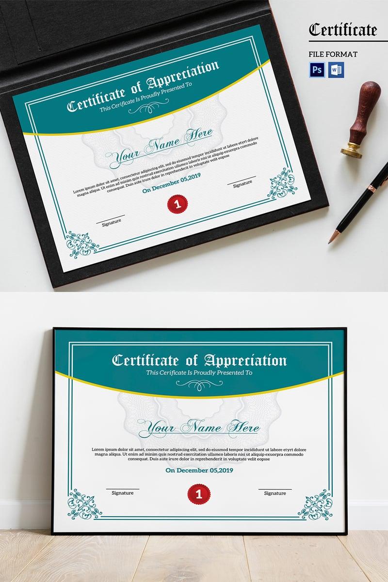 Appreciation Certificate Template #94423