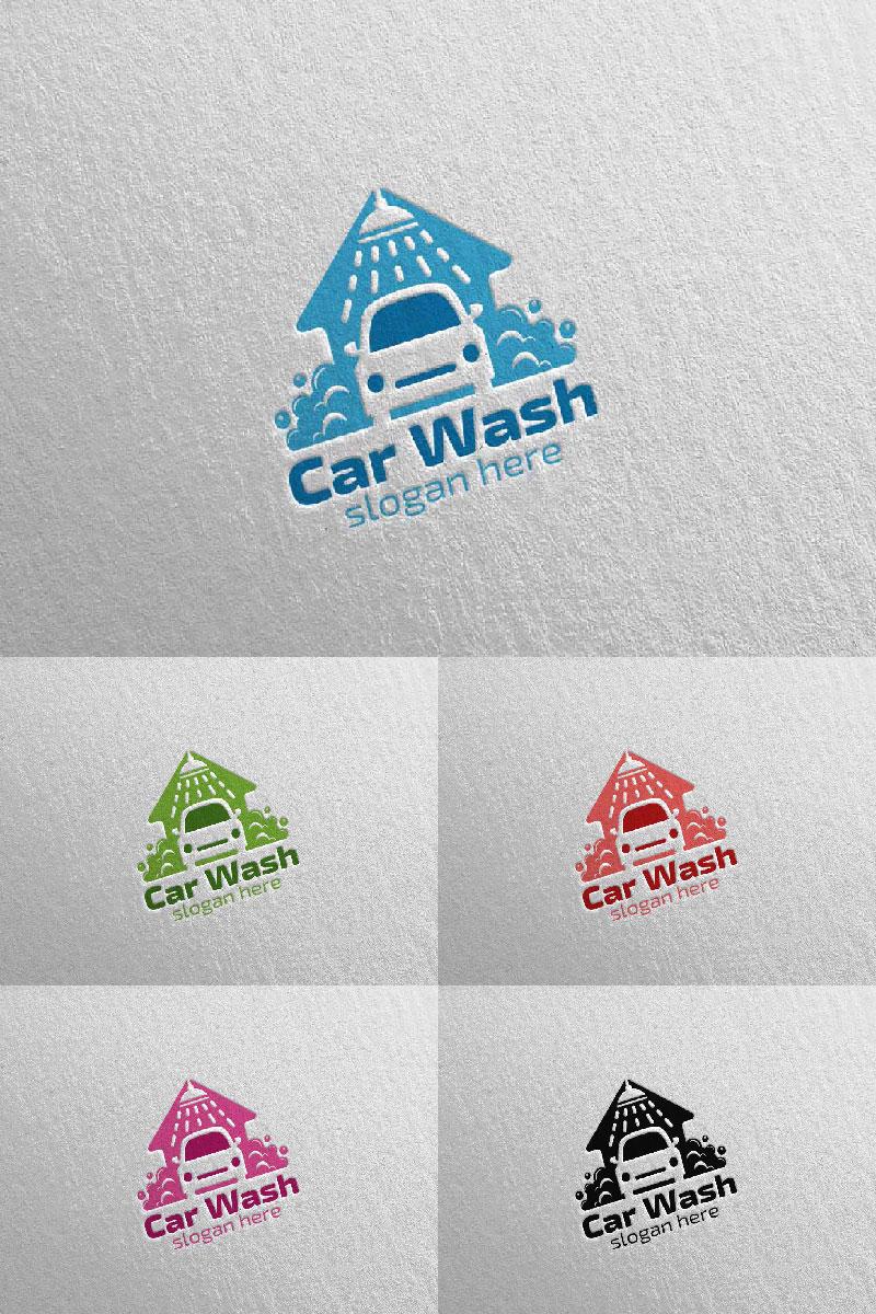 """""""Car Wash 3"""" Logo template №94421"""