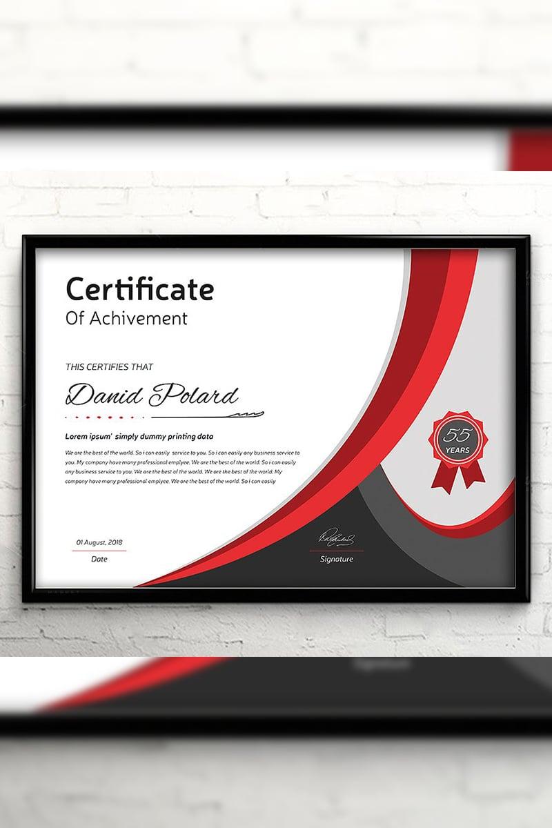 Curvy Elegant Certificate Template #94426