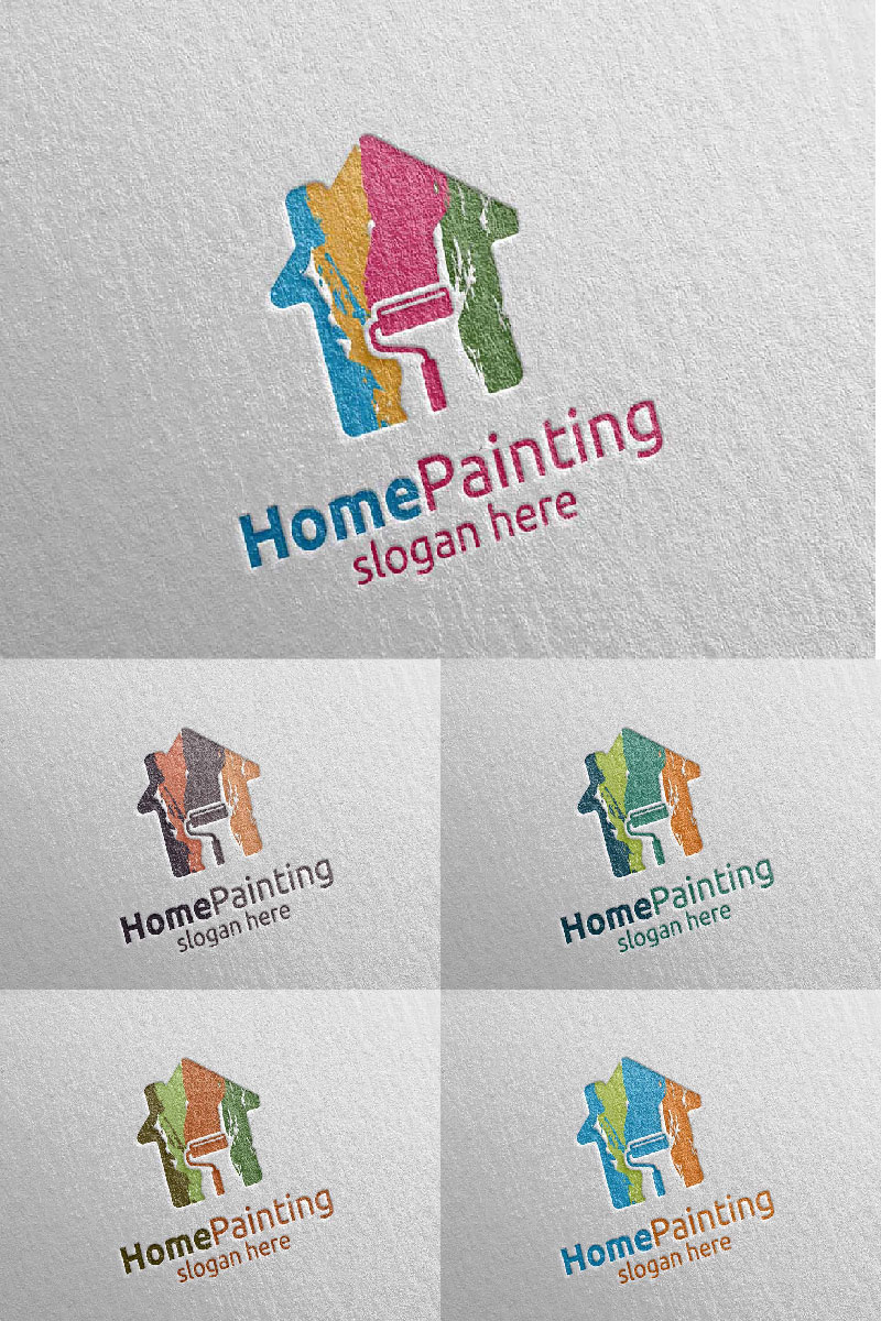 Home Painting Vector 7 Logo Template