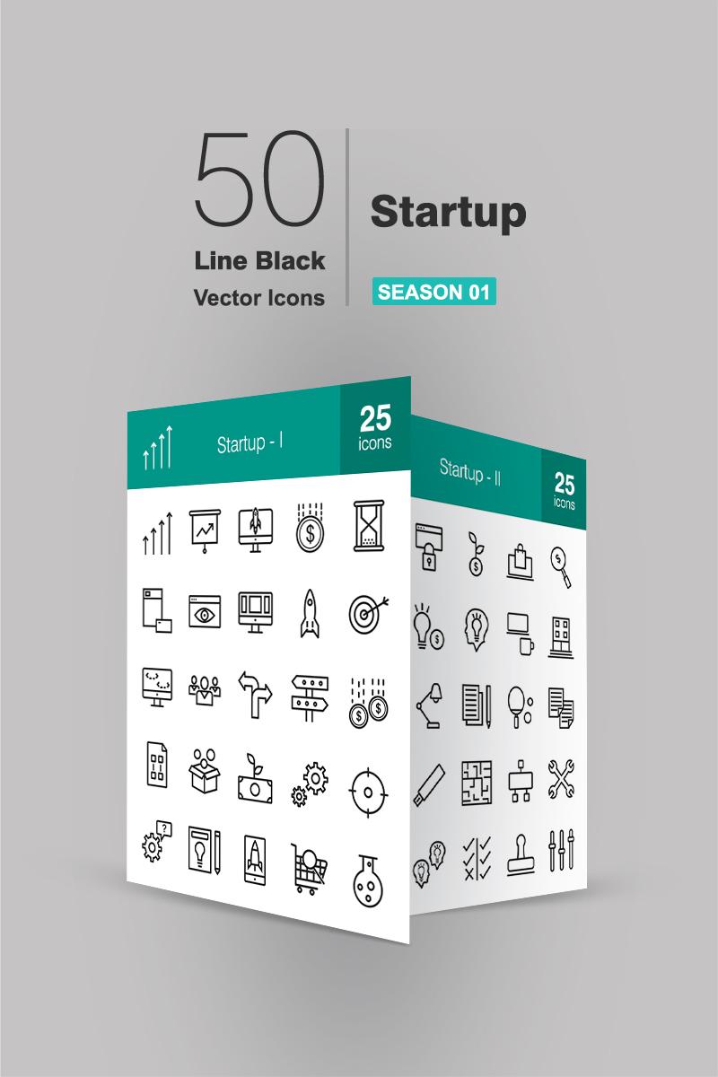 "Iconset šablona ""50 Startup Line"" #94476"