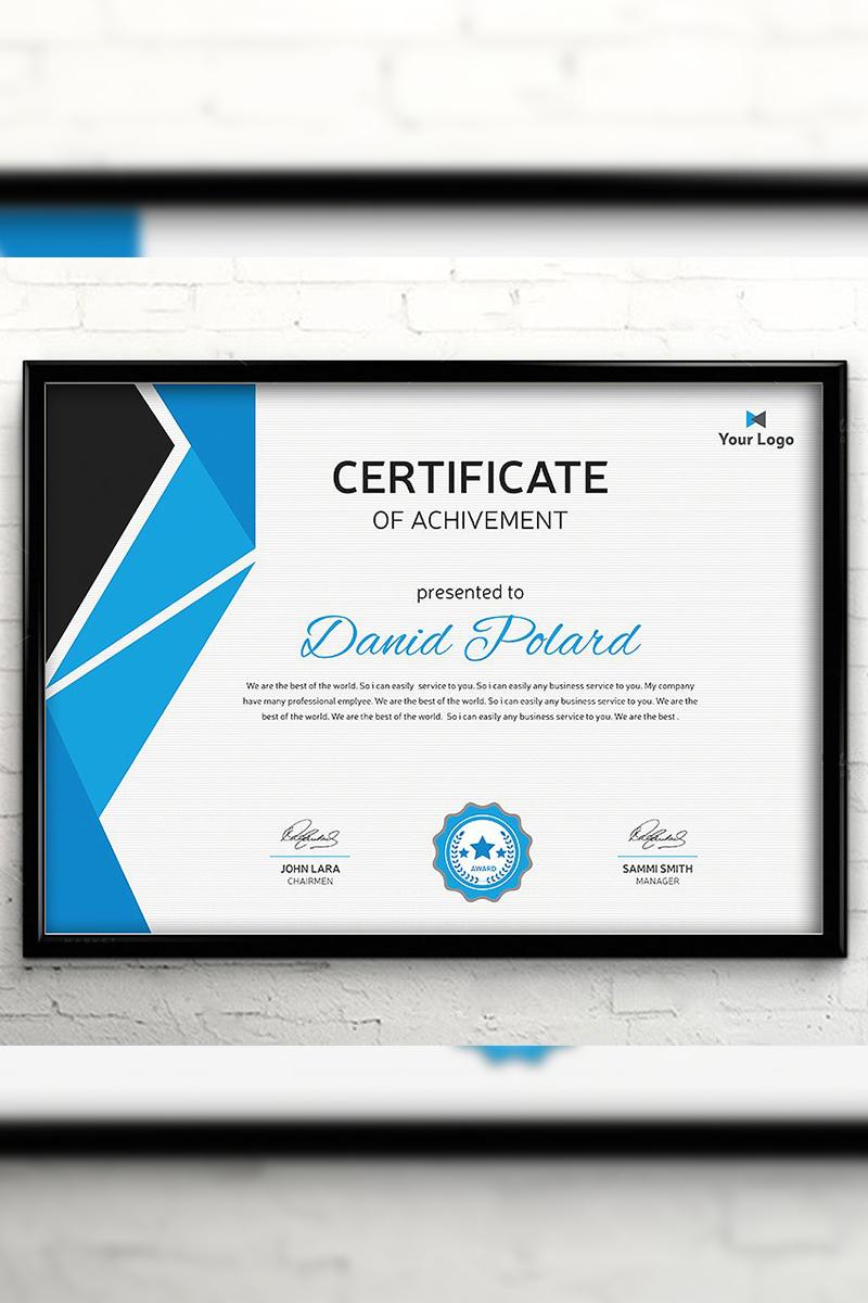 Modern Polygonal Certificate Template #94428