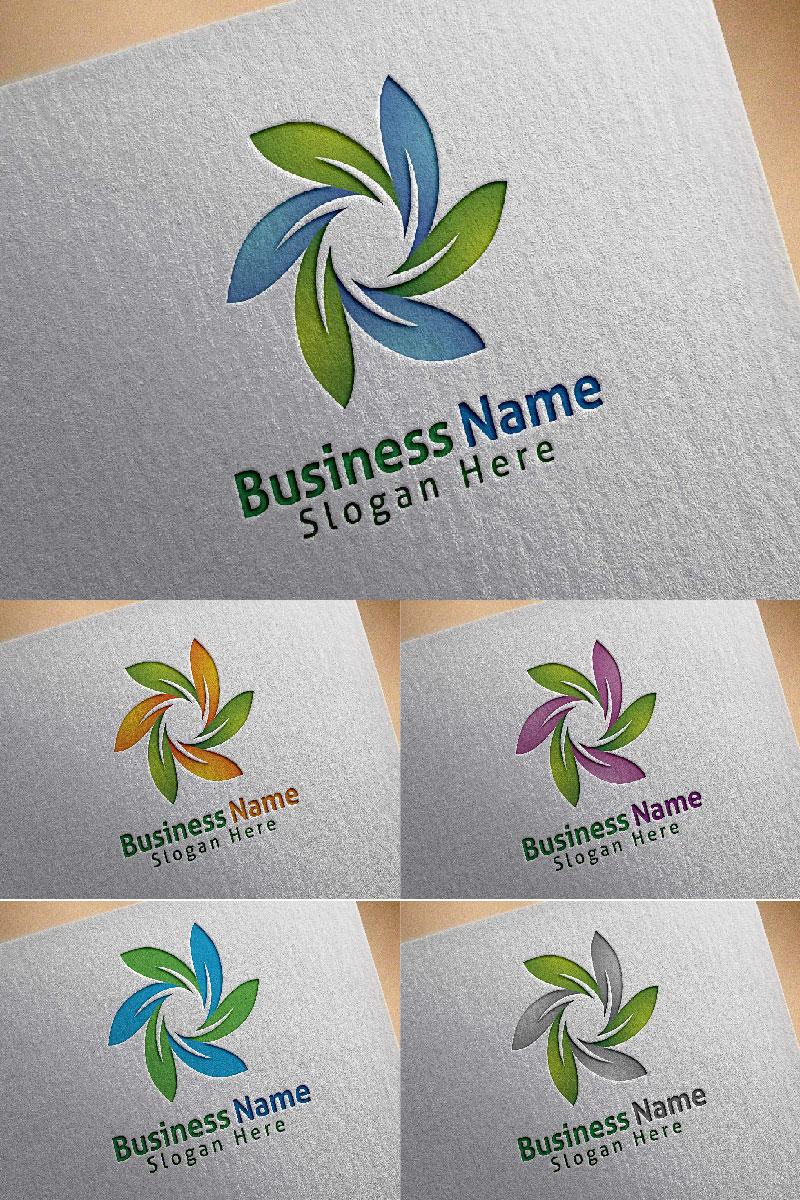 Natural Green Tree Logo Template