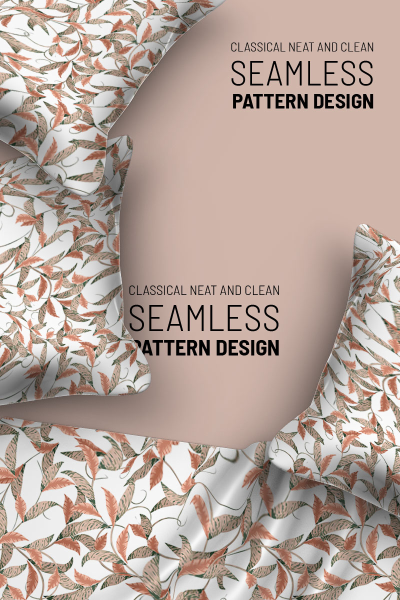 """Pattern """"Abstract beautiful flowers and branches seamless design"""" #94499"""