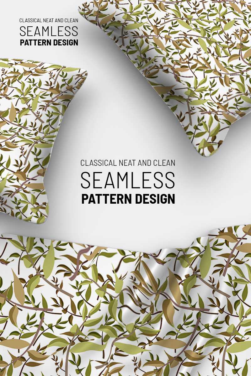 """Pattern """"Dry leaves and branches seamless design"""" #94498"""