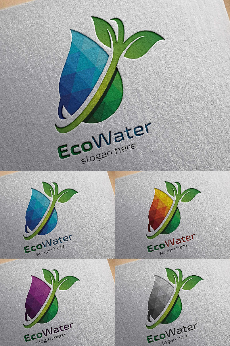 """Plantilla De Logotipo """"Water Drop"""" #94419"""