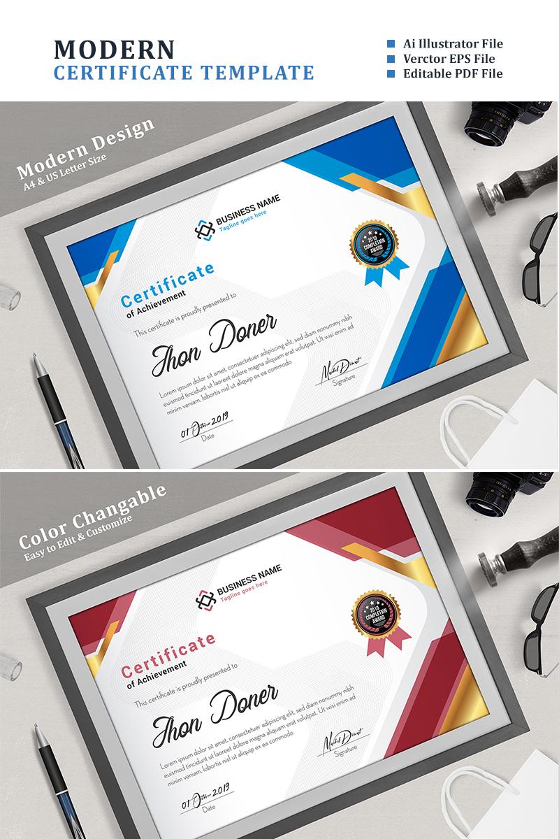 Premium Corporate Elegant Certificate Template #94425