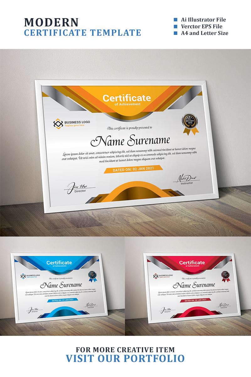 Premium Elegant Metallic Certificate Template #94424
