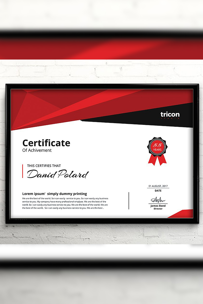 Ray Elegant Certificate Template #94429