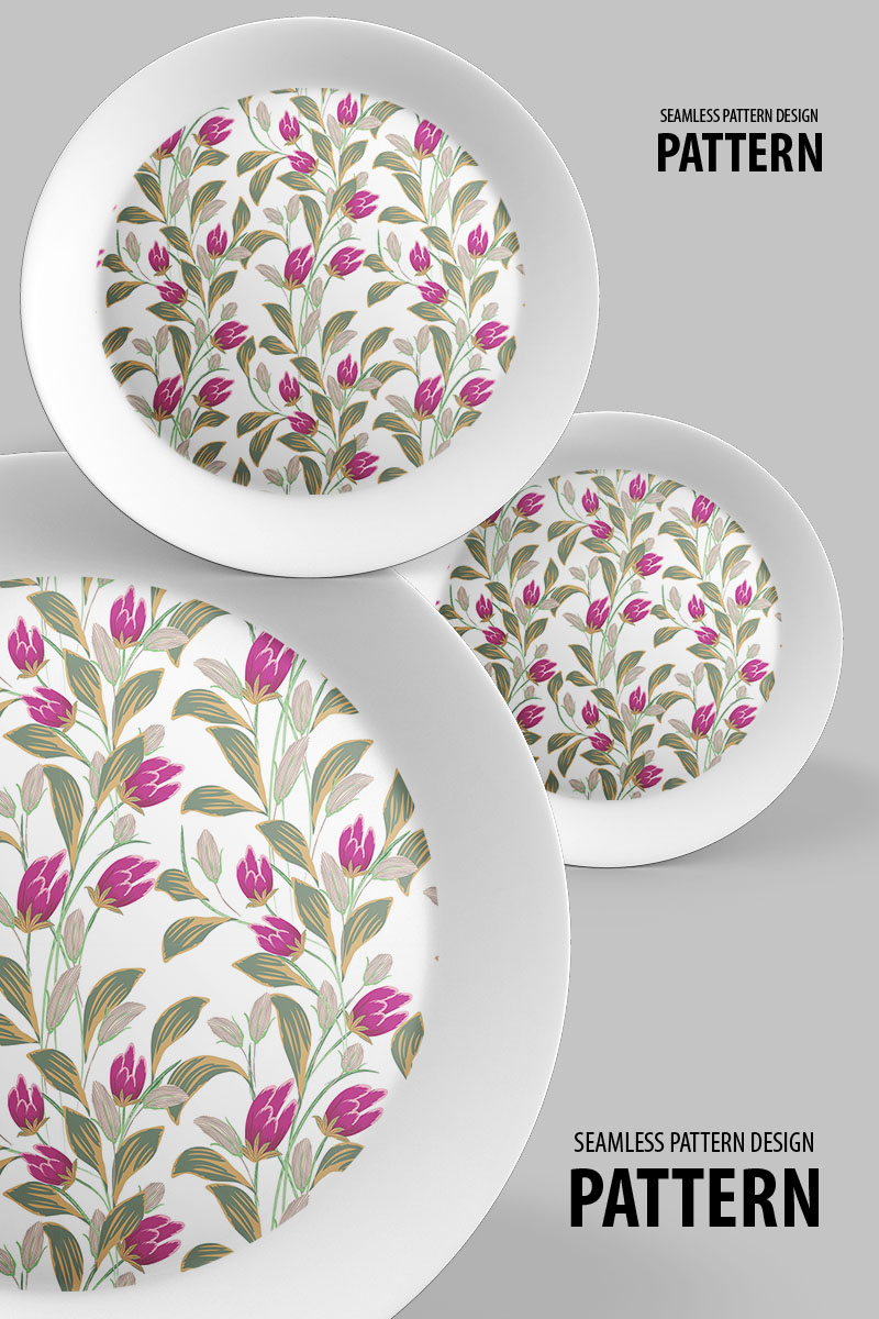 Abstract floral seamless flowers and branches Pattern 94509