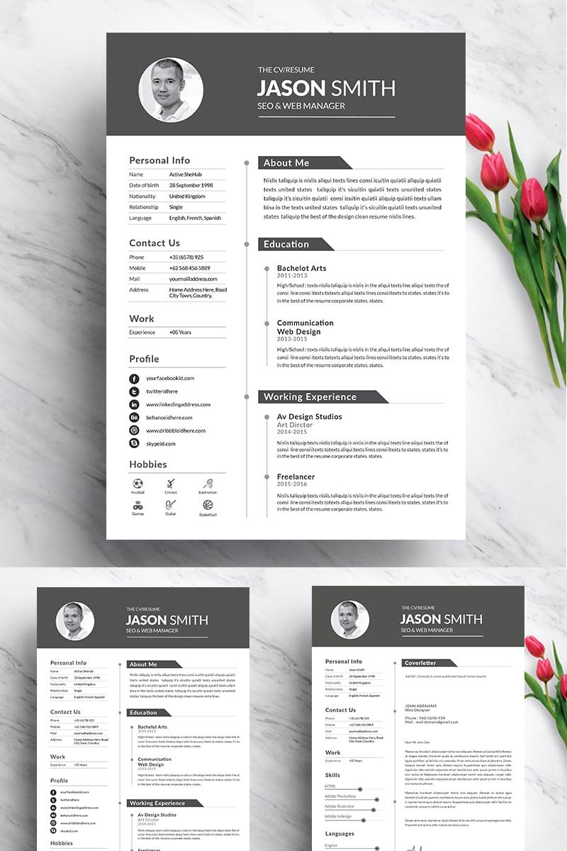 cv design resume template  94542