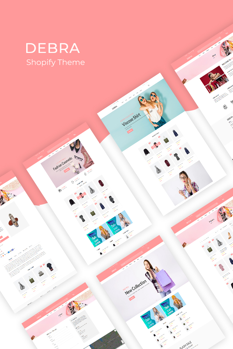 """Debra – Fashion"" Responsive Shopify Thema №94587"