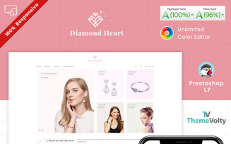 Diamond Heart Jewelry Store PrestaShop Theme