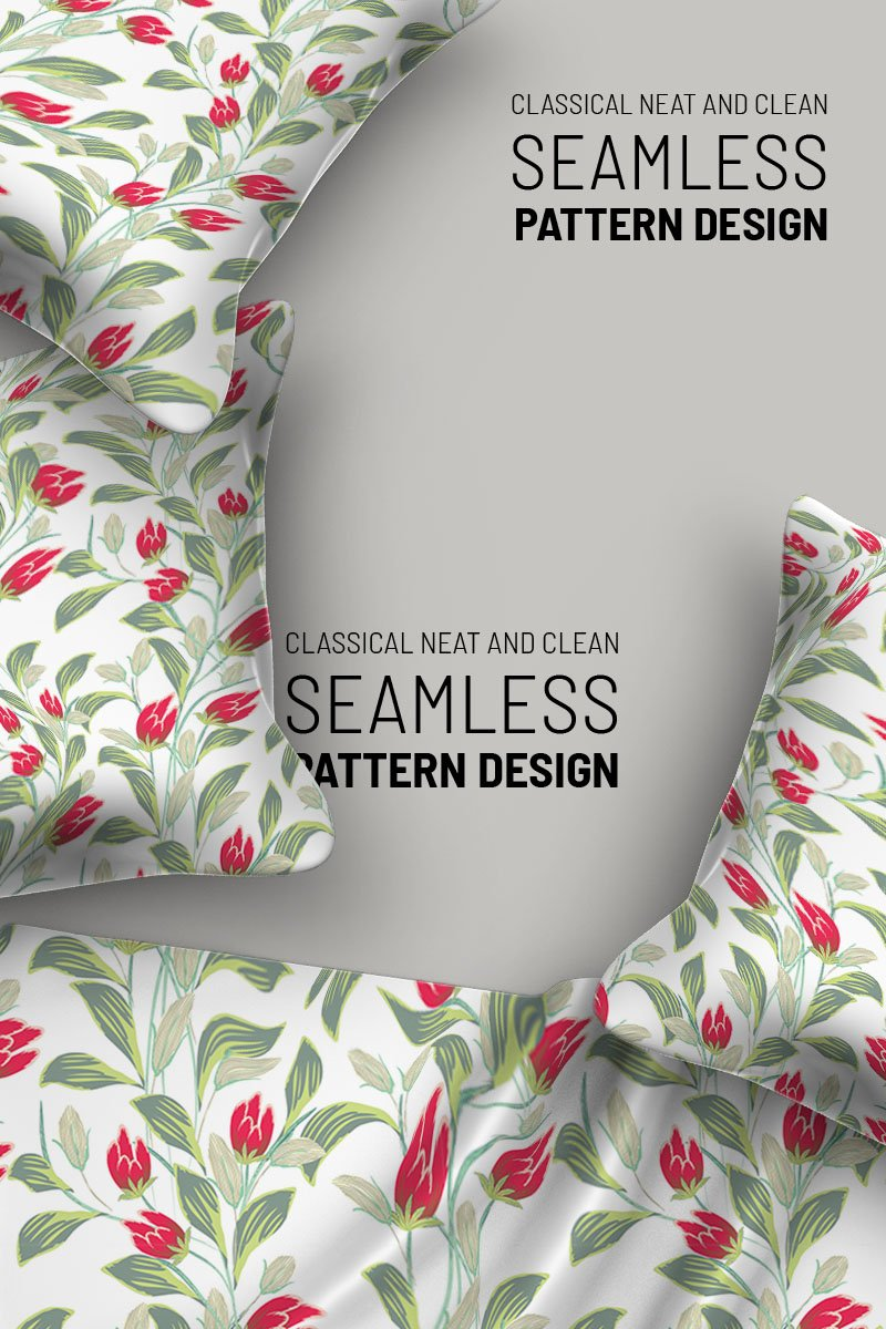 Floral design branches and flower Pattern - screenshot