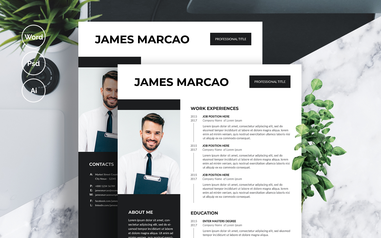 James Marcao Resume Template