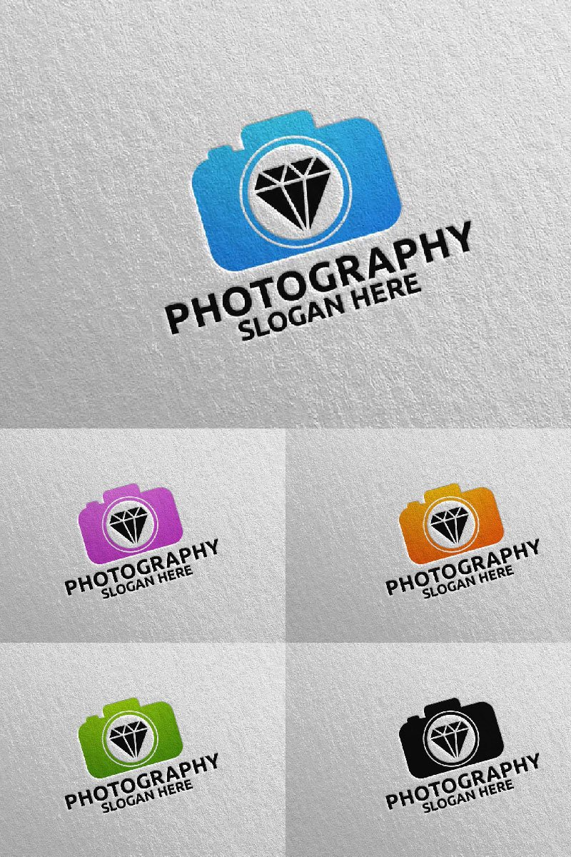 "Logo Vorlage namens ""Diamond Camera Photography 67"" #94586"