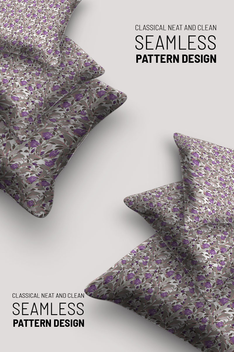 """Pattern """"Branches and flower seamless design"""" #94508"""