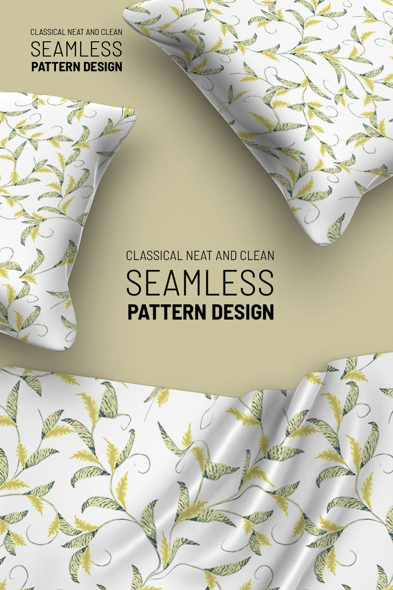 """Pattern """"Delicate abstract floral seamless design"""" #94501"""