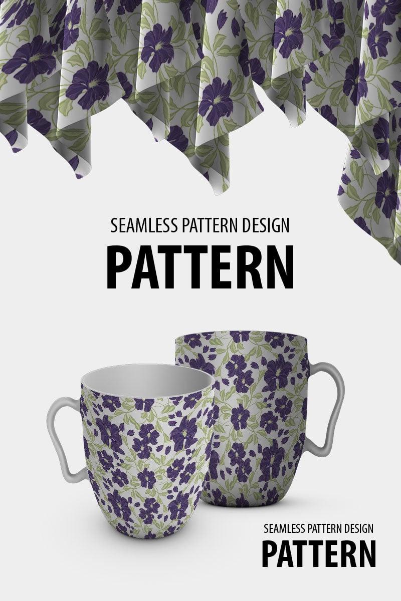 "Pattern namens ""Abstract beautiful flower plants seamless"" #94507"