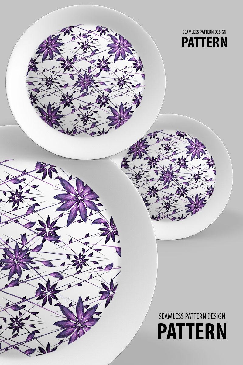 Random star like floral seamless design Pattern 94502