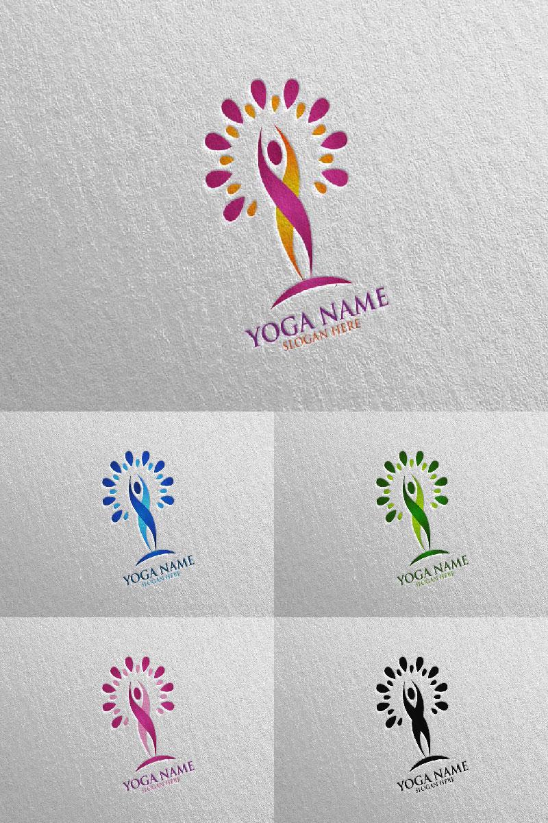 Szablon Logo Yoga and Lotus 58 #94577
