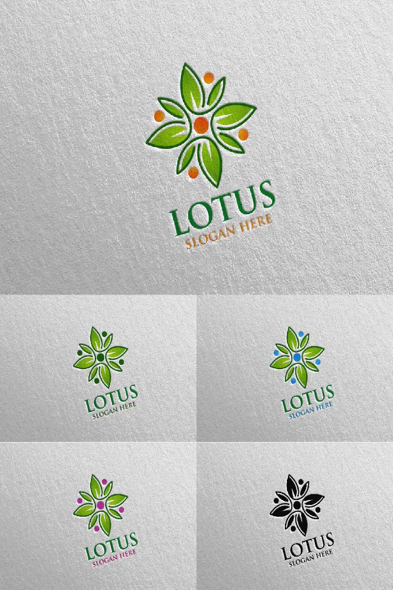 Szablon Logo Yoga and Lotus 60 #94579