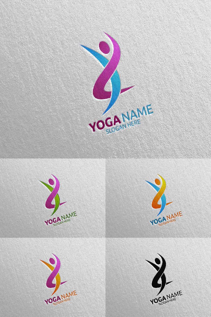 Szablon Logo Yoga and Lotus 61 #94580