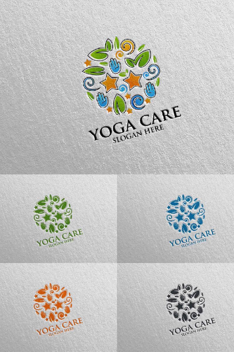 Szablon Logo Yoga and Lotus 62 #94581
