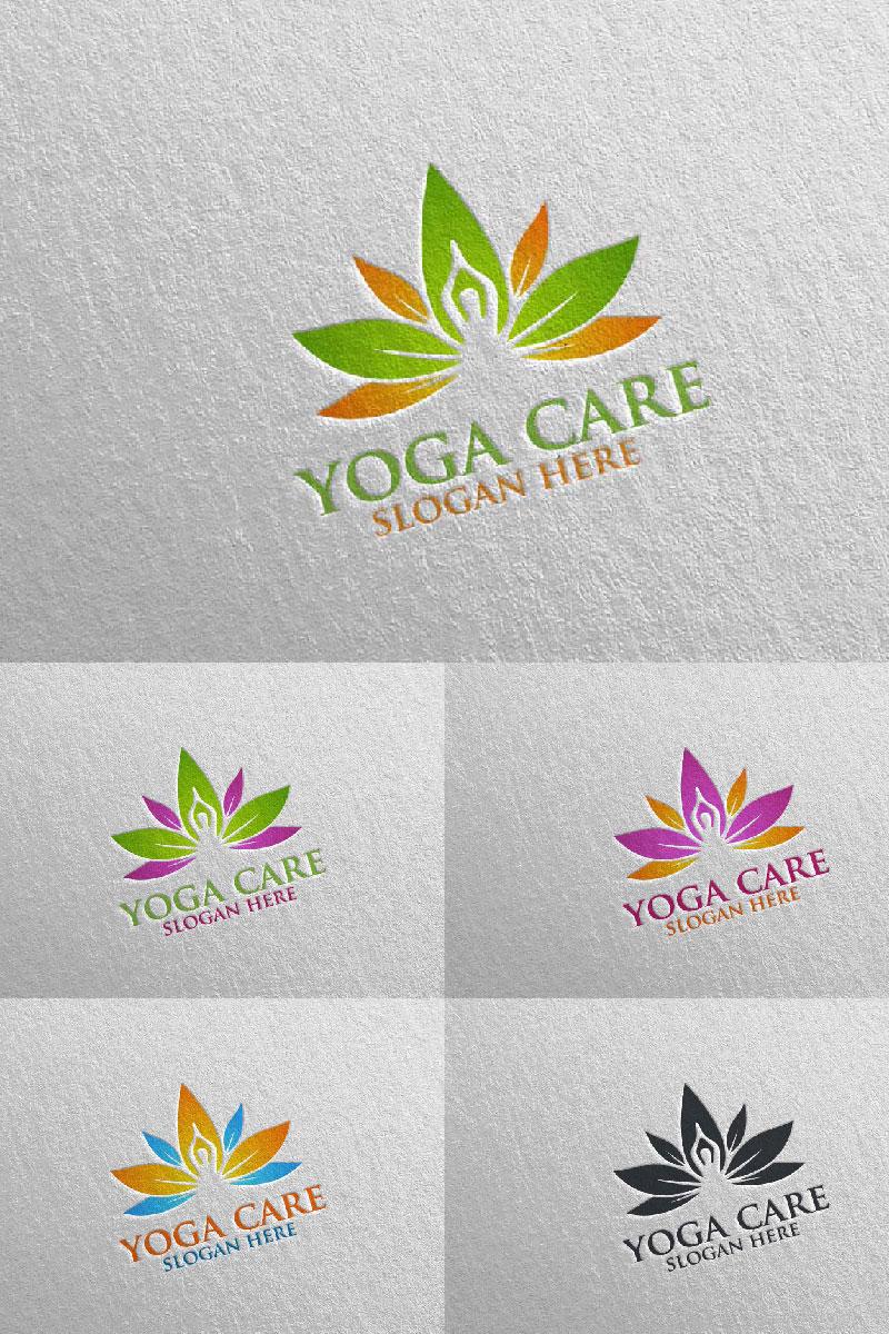 Szablon Logo Yoga and Lotus 63 #94582