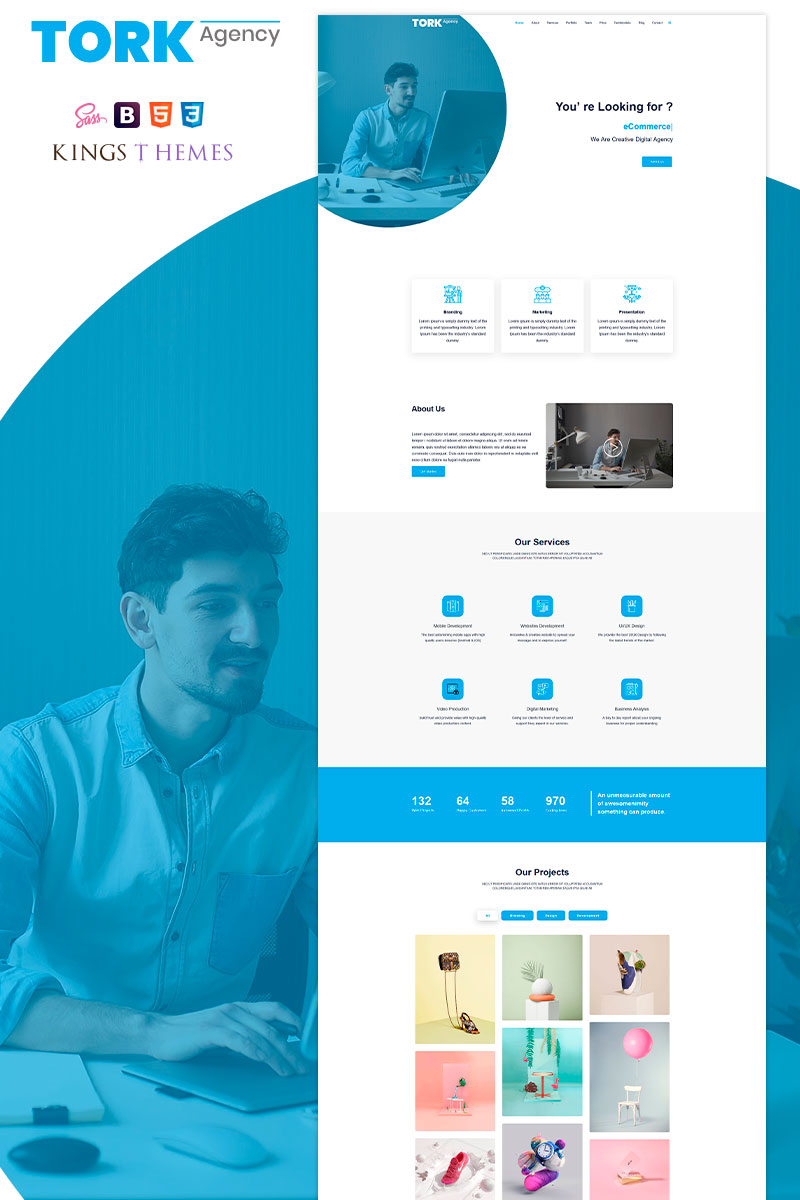 Tork Agency Templates de Landing Page №94589 - screenshot