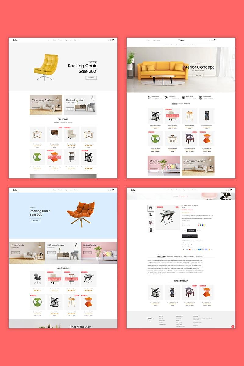 """Tyler – Furniture"" thème Shopify adaptatif #94537"