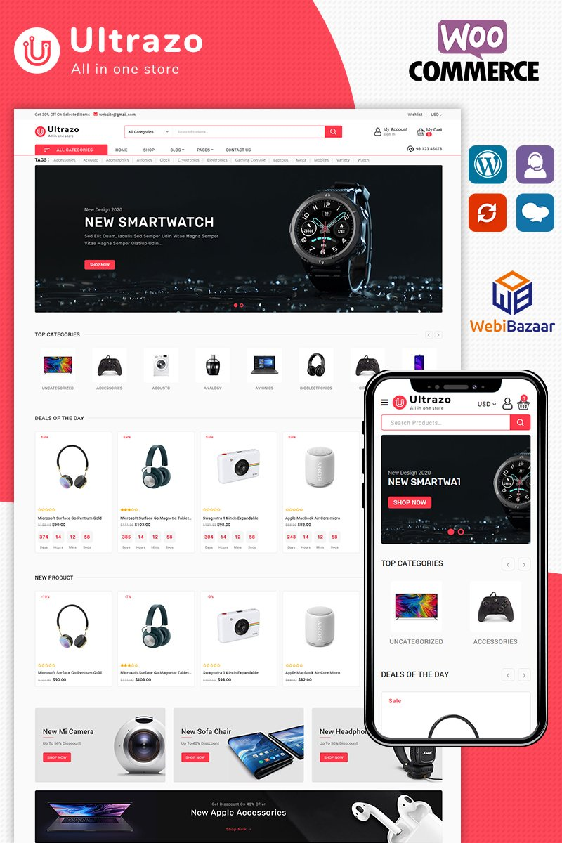 Ultrazo Electronics WooCommerce Theme - screenshot