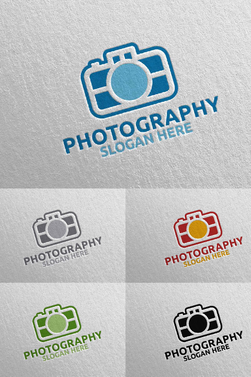 Abstract Camera Photography  110 Template de Logotipo №94648