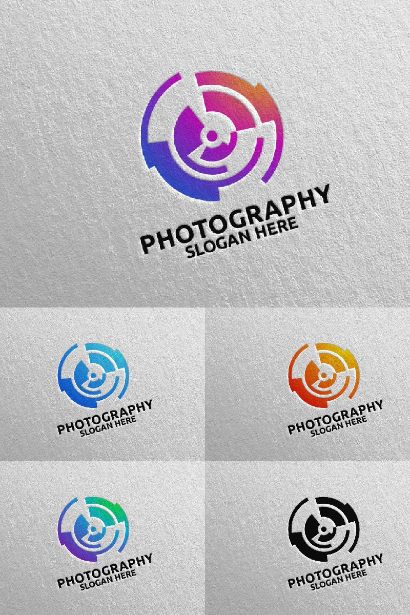 Abstract Camera Photography 89 Template de Logotipo №94689