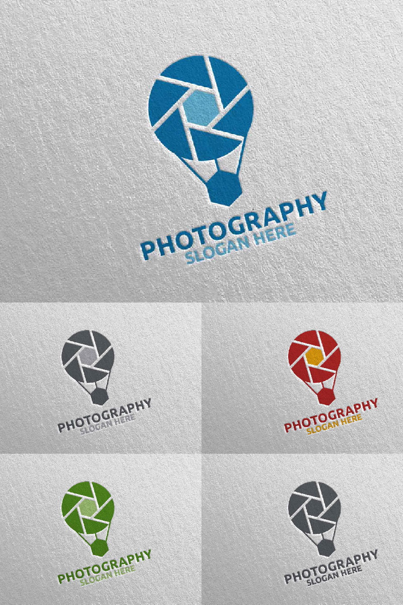 """Air Balloon Camera Photography  109"" Logo template №94649"