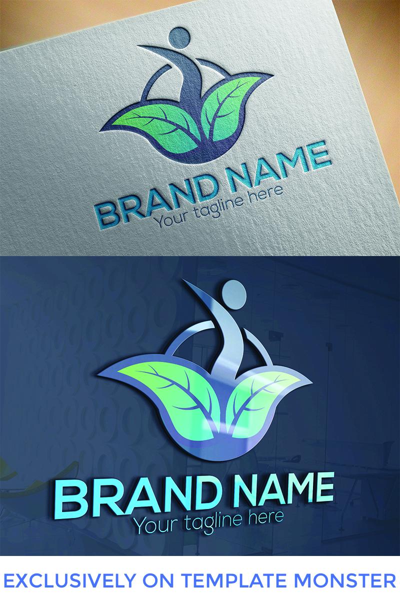 """Beauty Circle Leaf  Design"" modèle logo  #94663"