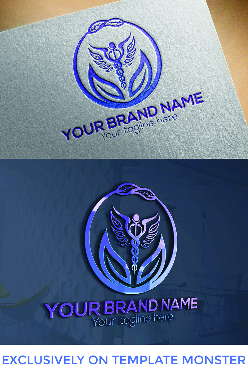 Circle Leaf  Design Logo Template
