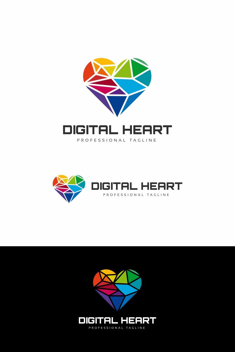Digital Heart Logo Template