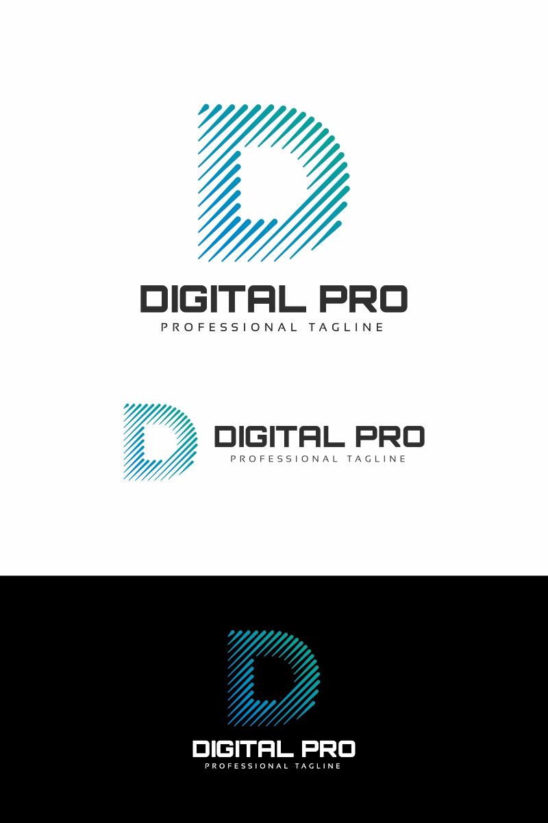 Digital Pro D Letter Logo Template