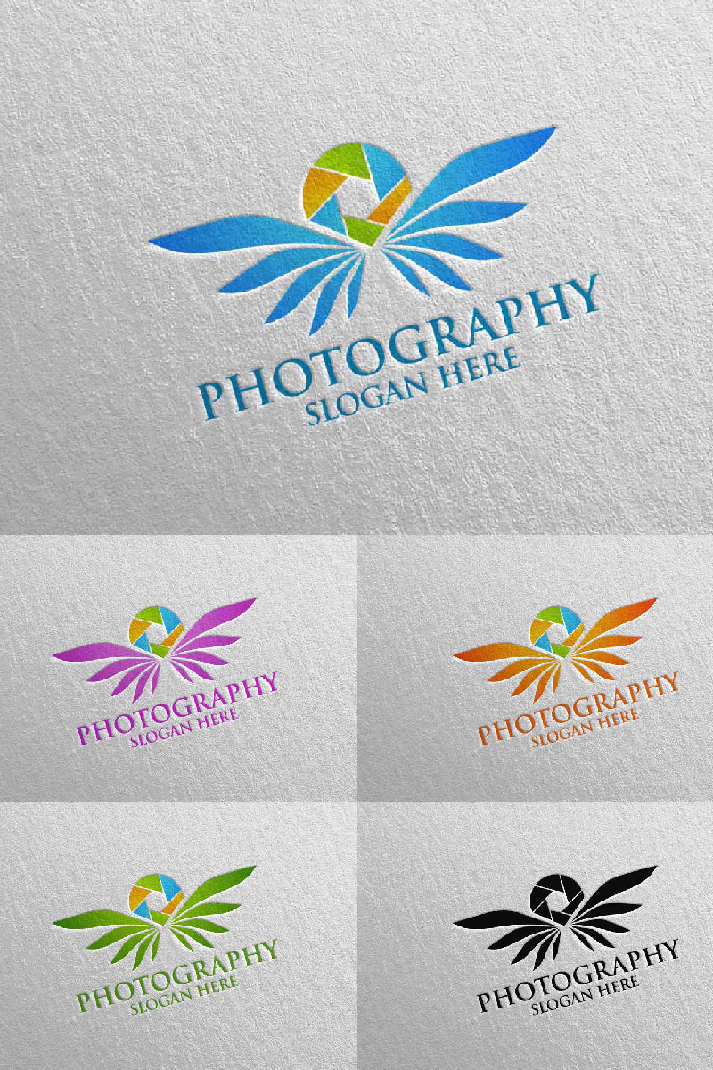 Fly Wing Camera Photography 92 Unika logotyp mall #94685